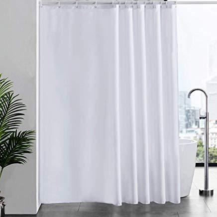 tenda per vasca da bagno con 12 anelli tessuto antibatterico in poliestere 180 x 200 cm lavabile Tenda da doccia in tessuto antimuffa Tessuto KIPIDA impermeabile colore: grigio 180X180CM